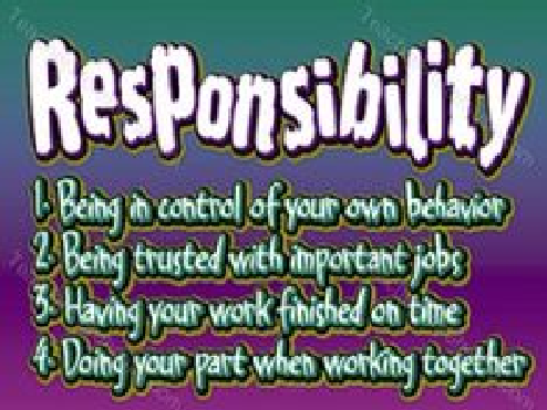 Value this month: Responsibility
